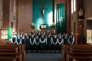 St Francis Xavier Catholic Primary School Ashbury - students in a choir at the school's chapel