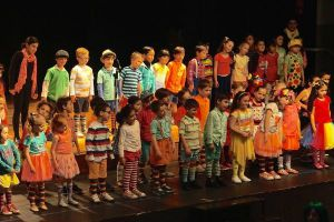 St Francis Xavier Catholic Primary School Ashbury - students on stage for musical performance
